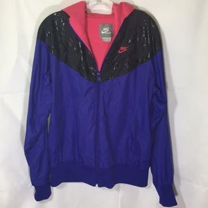 Nike blue/pink windbreaker size XL